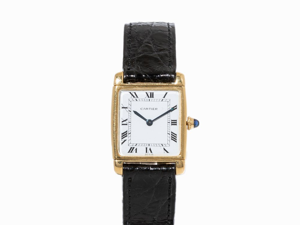 Cartier Reverso Wristwatch, Switzerland, c. 1980
