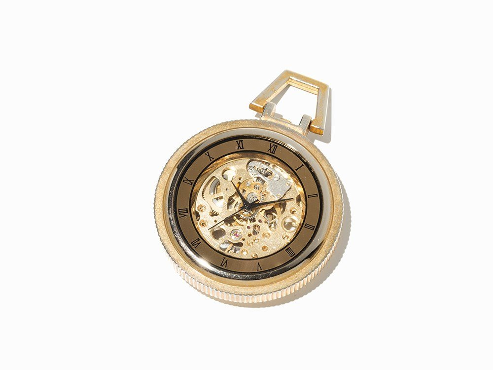 Skeletonized Pocket Watch, Presumably Switzerland, C.