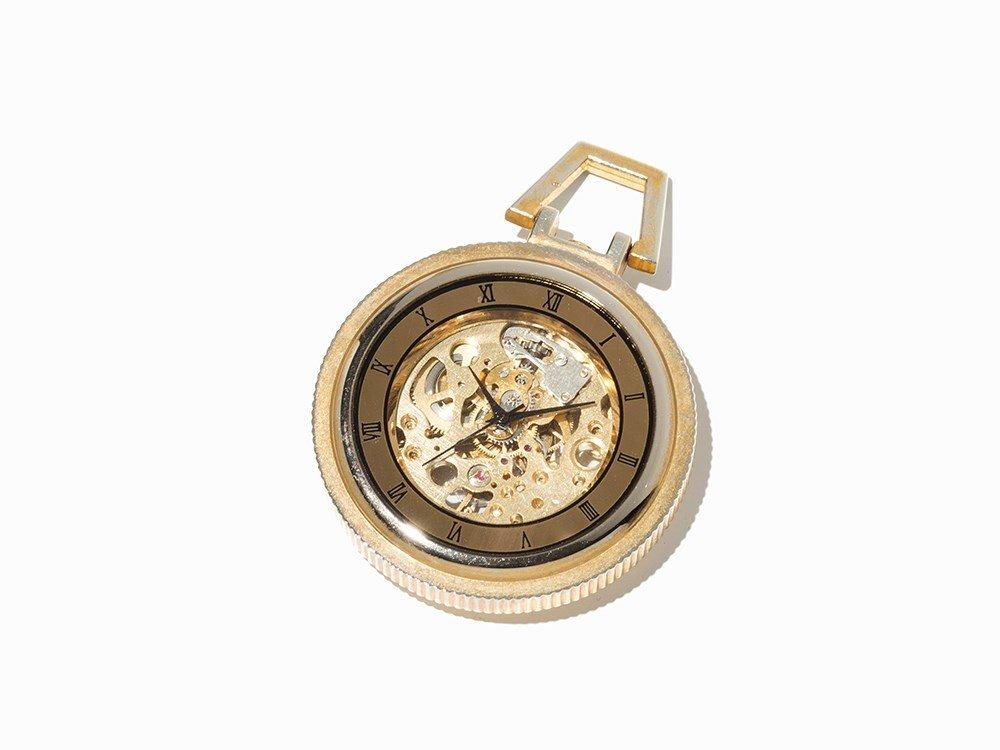 Skeletonized Pocket Watch, Presumably Switzerland, C.