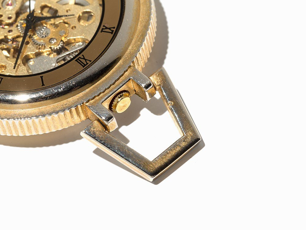 Skeletonized Pocket Watch, Presumably Switzerland, C. - 4