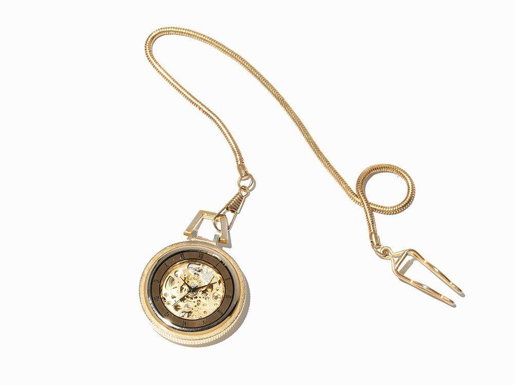 Skeletonized Pocket Watch, Presumably Switzerland, C. - 7
