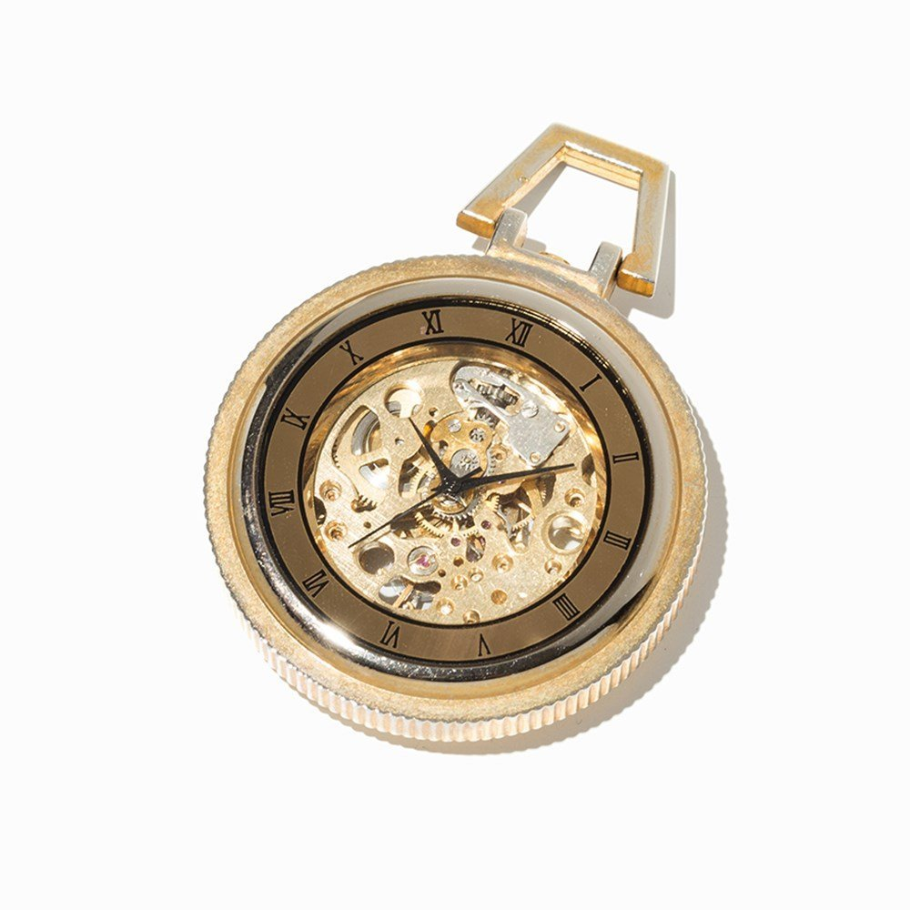 Skeletonized Pocket Watch, Presumably Switzerland, C. - 8