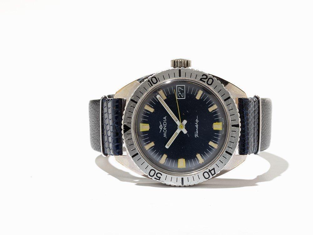 Mondia, Friendship Diver Wristwatch, Switzerland, 1970s