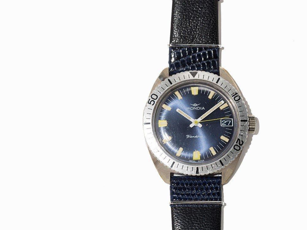 Mondia, Friendship Diver Wristwatch, Switzerland, 1970s - 2