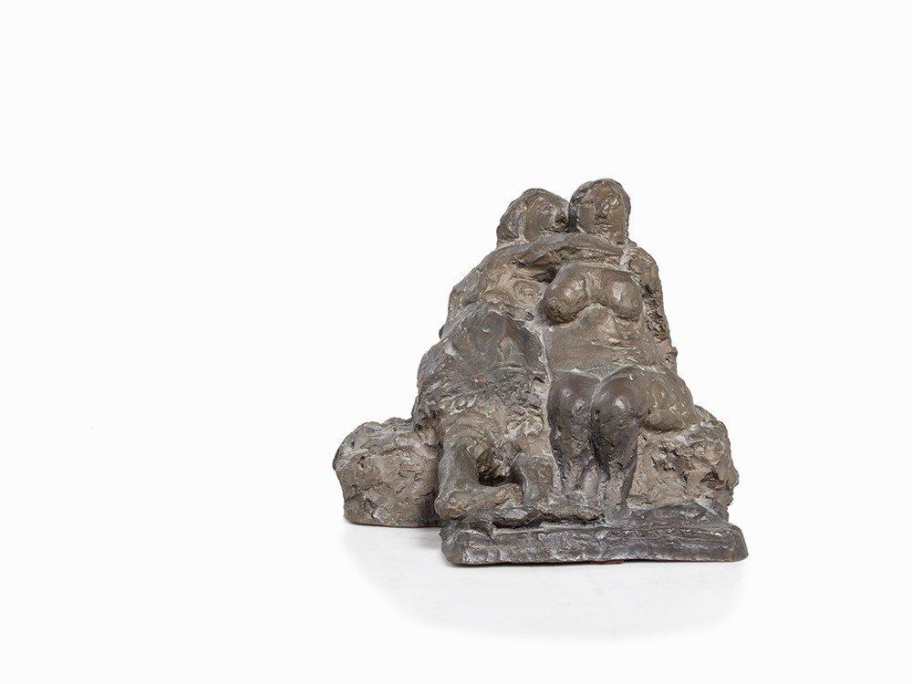 Alfred Hrdlicka (1928-2009), Sappho, Figural Bronze,