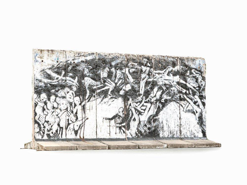 6 Segments Berlin Wall Painted by Ben Wargin & Fred