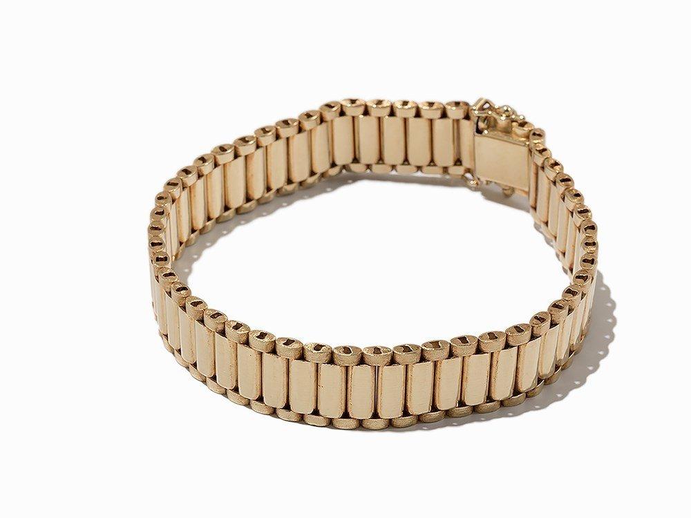 Bike Link Chain Bracelet, 14K Yellow Gold