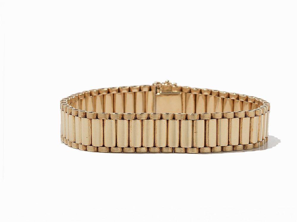 Bike Link Chain Bracelet, 14K Yellow Gold - 3