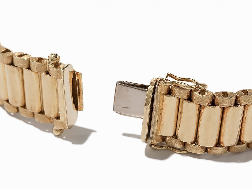 Bike Link Chain Bracelet, 14K Yellow Gold - 4