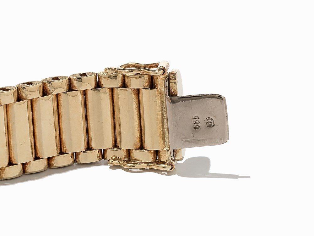 Bike Link Chain Bracelet, 14K Yellow Gold - 5