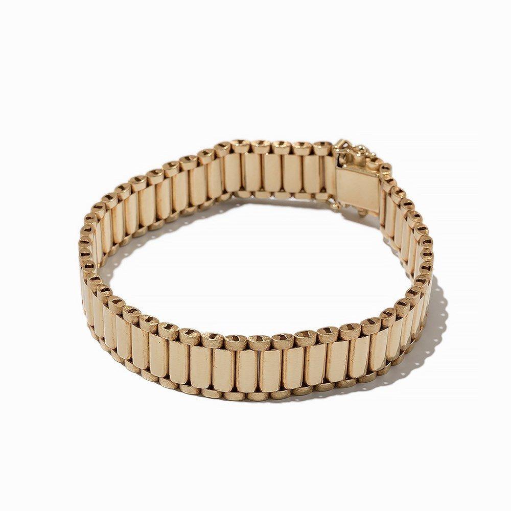 Bike Link Chain Bracelet, 14K Yellow Gold - 7