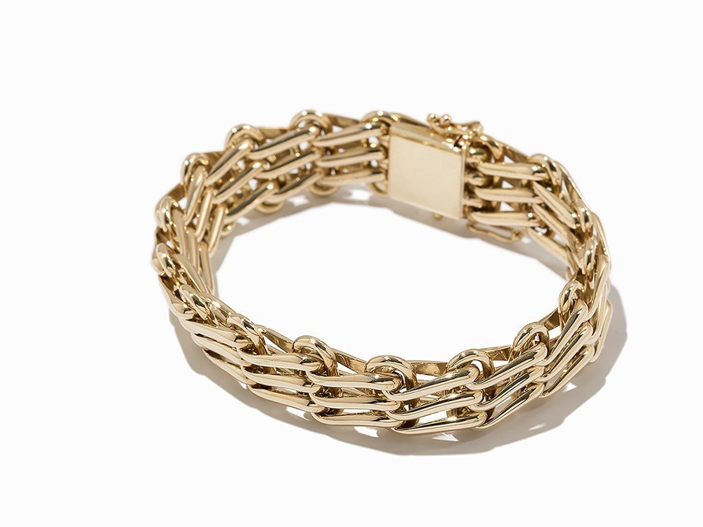 Massive Link Bracelet, 14K Yellow Gold