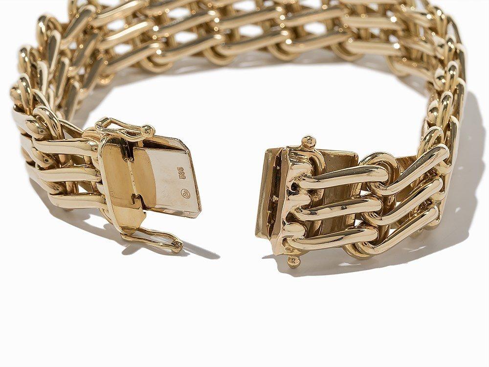 Massive Link Bracelet, 14K Yellow Gold - 4