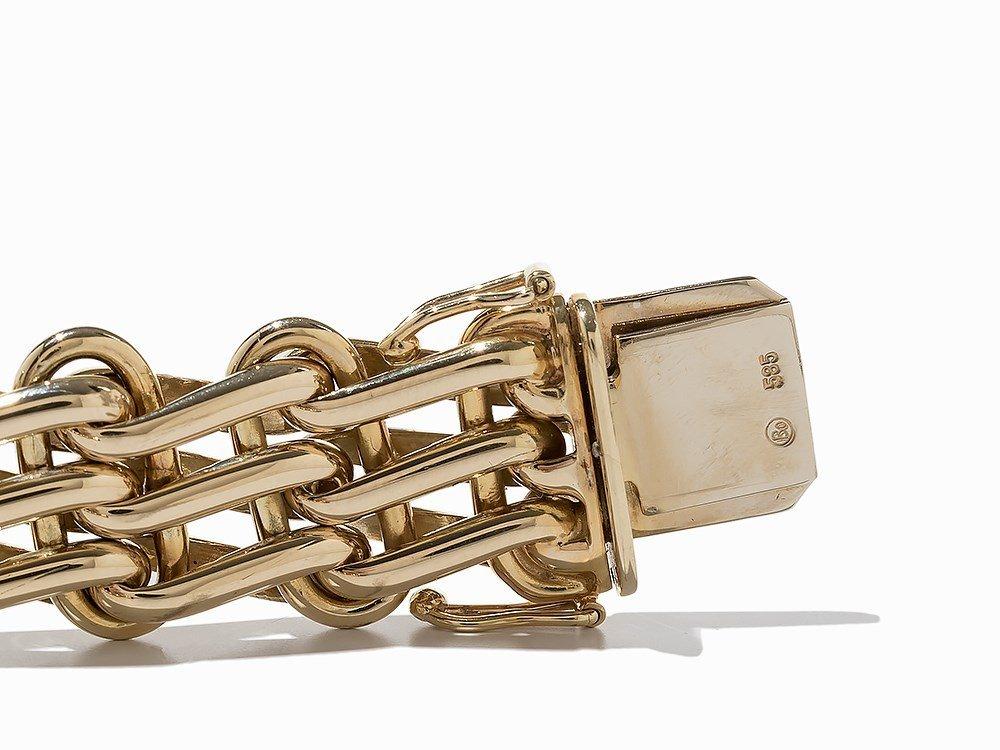 Massive Link Bracelet, 14K Yellow Gold - 5