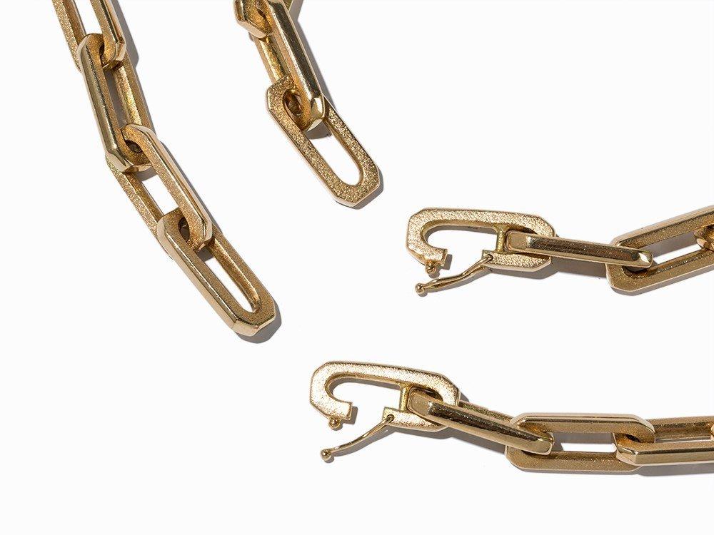 Anchor Necklace and Bracelet, 14K Gold - 3