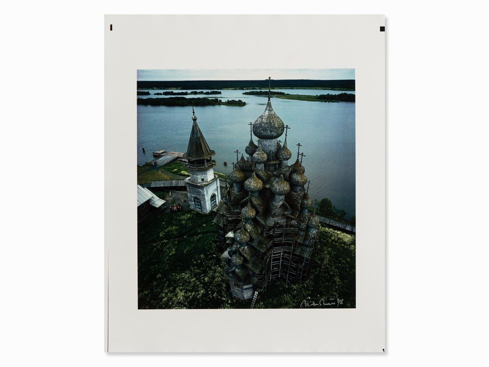 Dieter Blum, Kizhi Wooden Church, Dye Transfer Print,