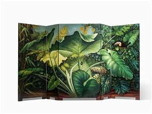 Aldo Tura, Large 'Jungle' Screen, 1980s