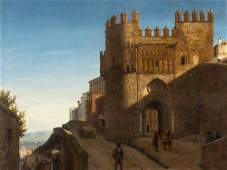 Heinrich Hansen, Toledo, Puerta del Sol, Oil Painting,