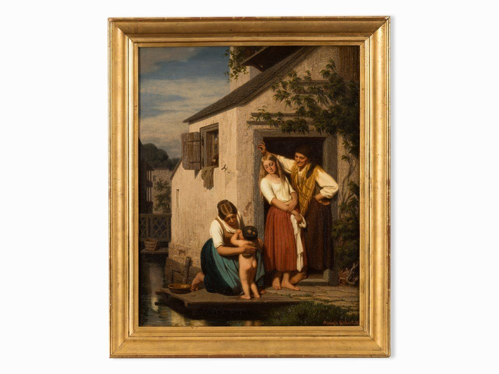 Oswald Adalbert Sickert, Family Scene, Oil Painting, - 2