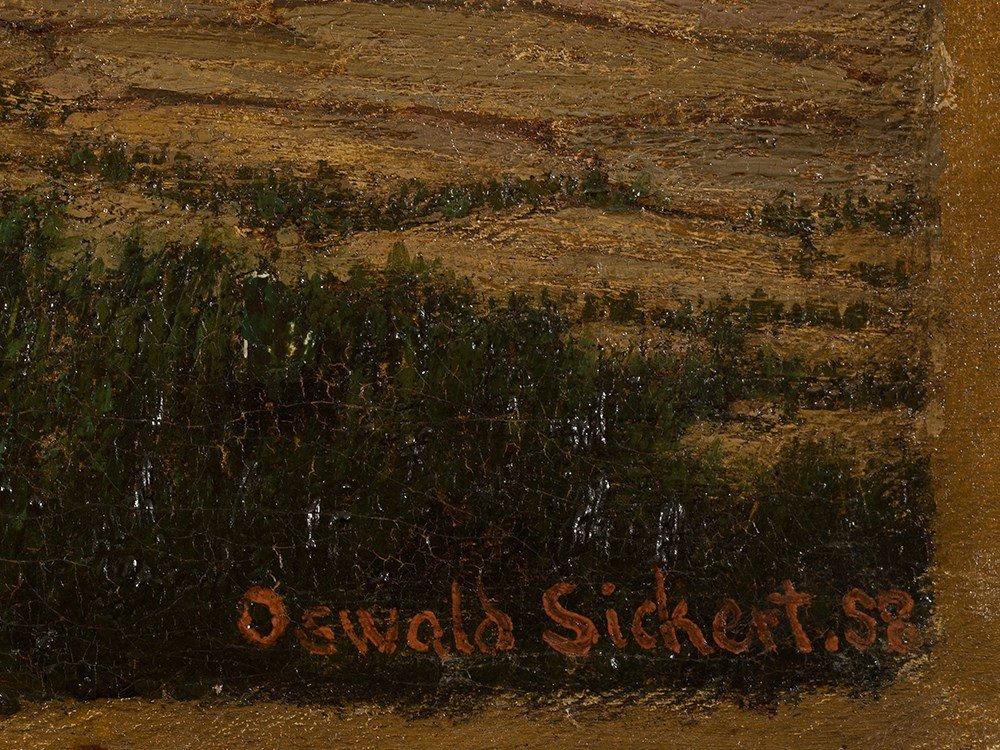 Oswald Adalbert Sickert, Family Scene, Oil Painting, - 4