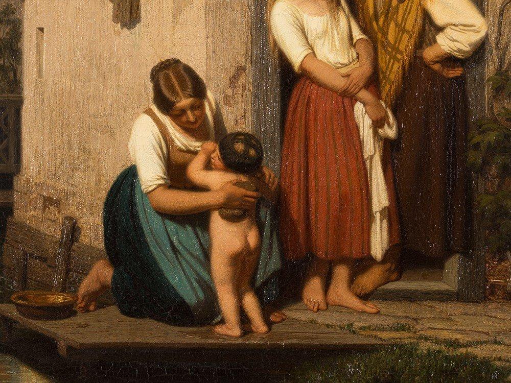 Oswald Adalbert Sickert, Family Scene, Oil Painting, - 5
