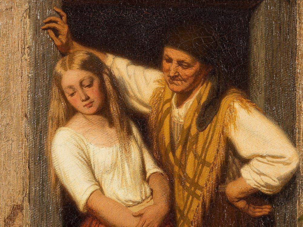 Oswald Adalbert Sickert, Family Scene, Oil Painting, - 6