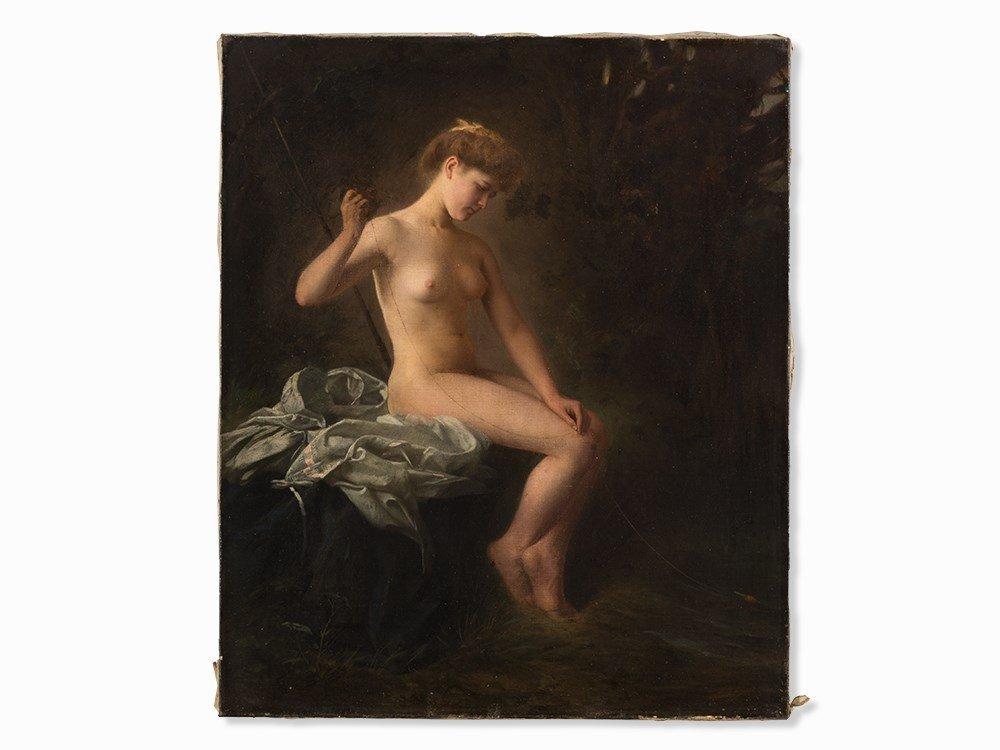 Raimund von Wichera, Attrib., Female Nude, Oil, c. 1900 - 3
