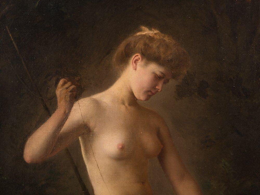 Raimund von Wichera, Attrib., Female Nude, Oil, c. 1900 - 4