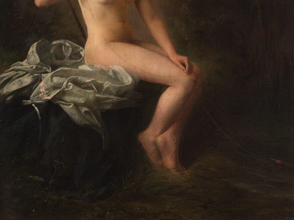 Raimund von Wichera, Attrib., Female Nude, Oil, c. 1900 - 5