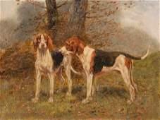 Eugène Petit, English Pointer, Oil Painting, 19th C.