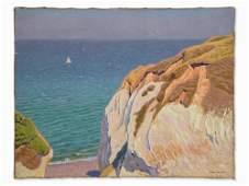André Morisset, Coastal Landscape, Oil, 1st H. 20th C.