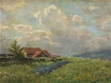 August Splitgerber, Landscape, Oil Painting, Late 19th
