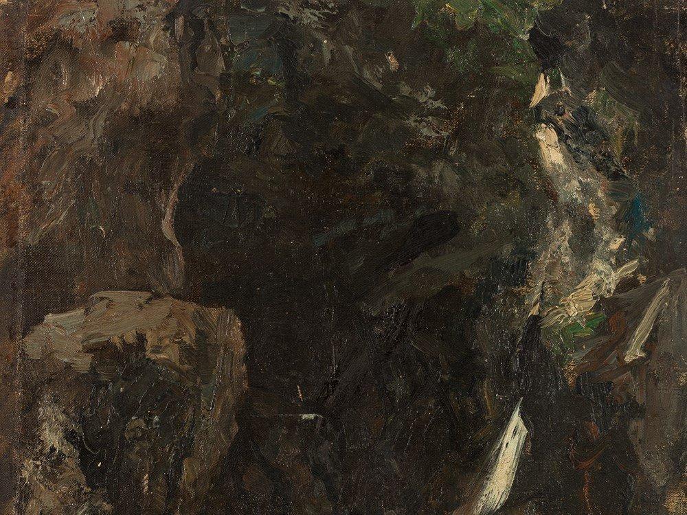 Ferdinand Brütt, Waterfall, Oil Painting, 1895