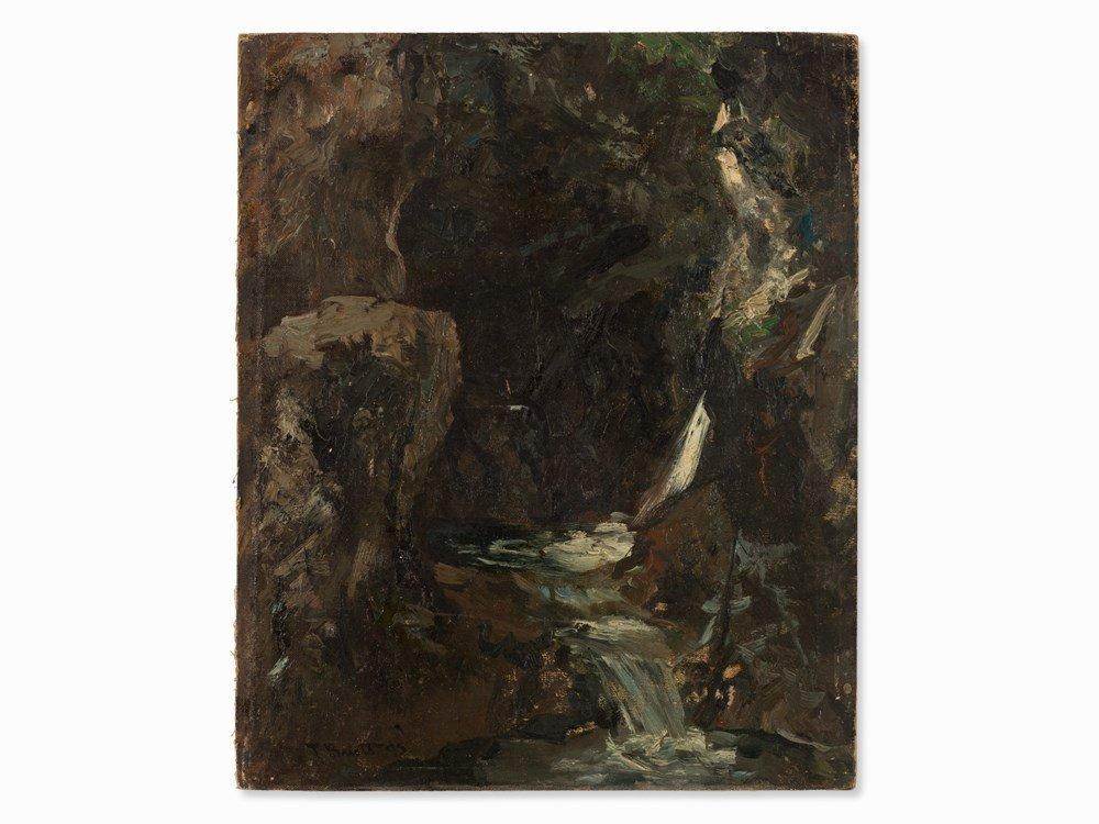 Ferdinand Brütt, Waterfall, Oil Painting, 1895 - 2