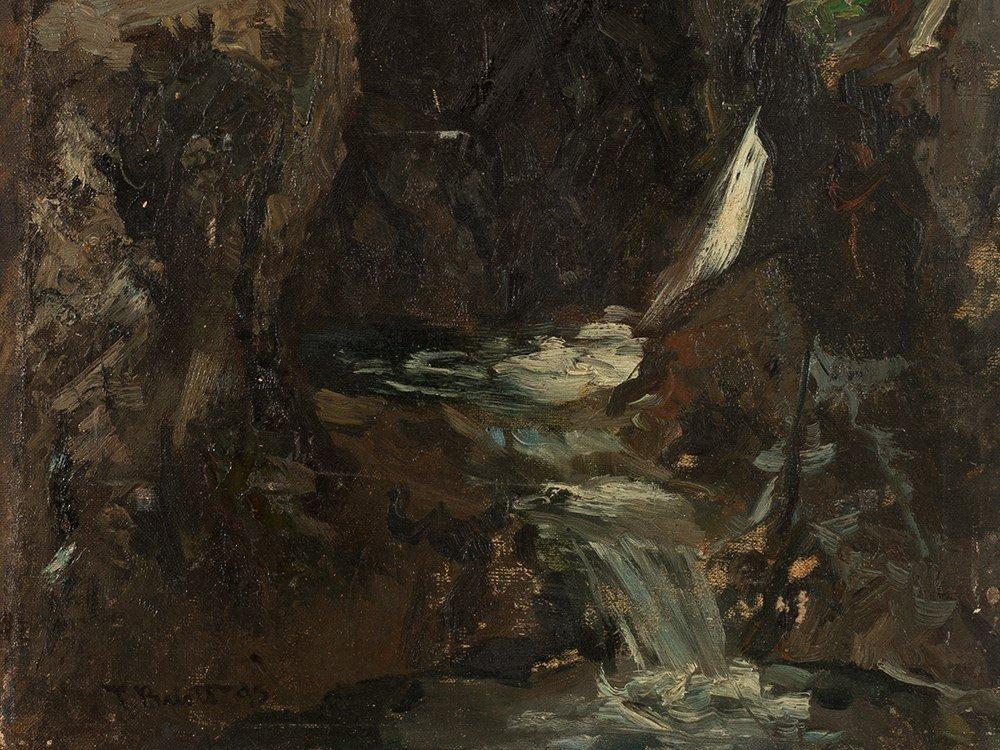 Ferdinand Brütt, Waterfall, Oil Painting, 1895 - 3