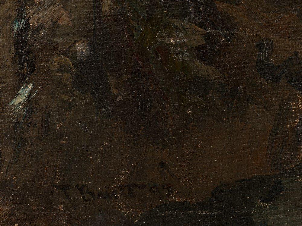 Ferdinand Brütt, Waterfall, Oil Painting, 1895 - 5