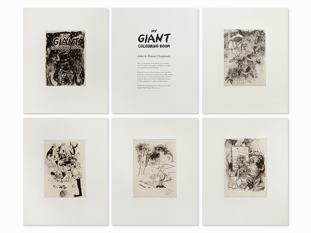 Jake and Dinos Chapman, My Giant Colouring Book, 2004
