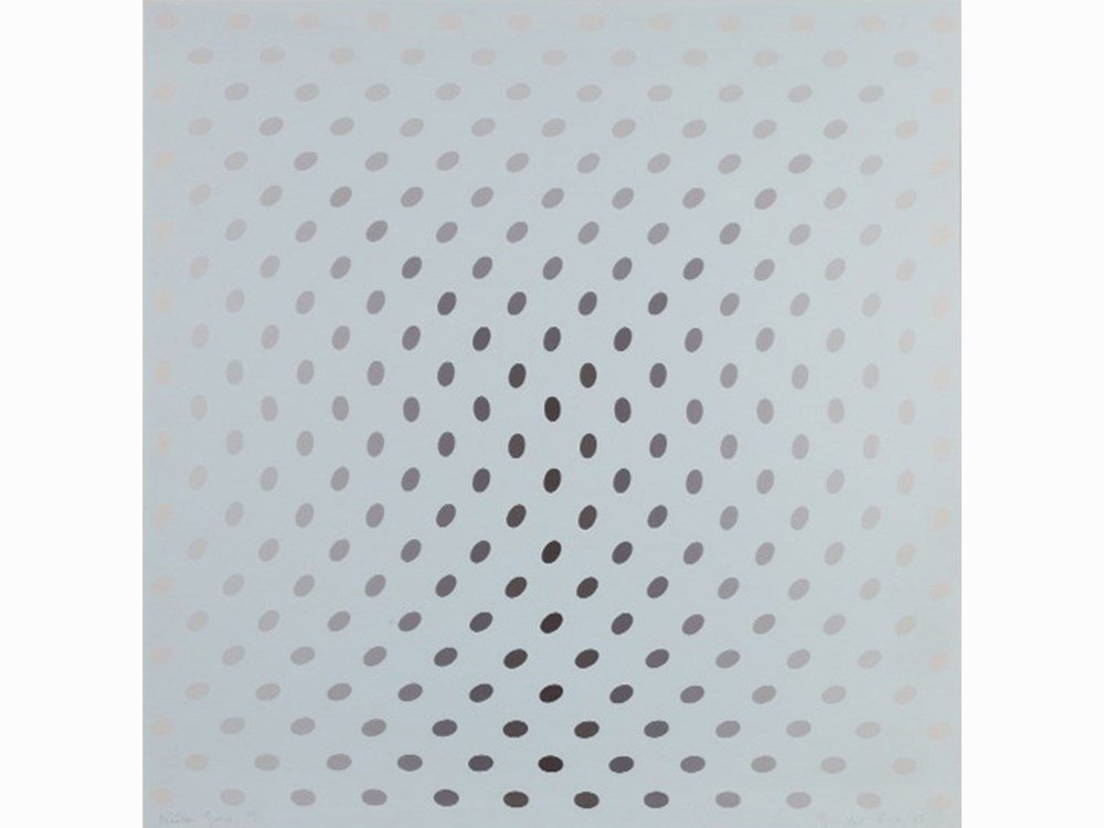 Bridget Riley, Untitled [Nineteen Greys C], 1968