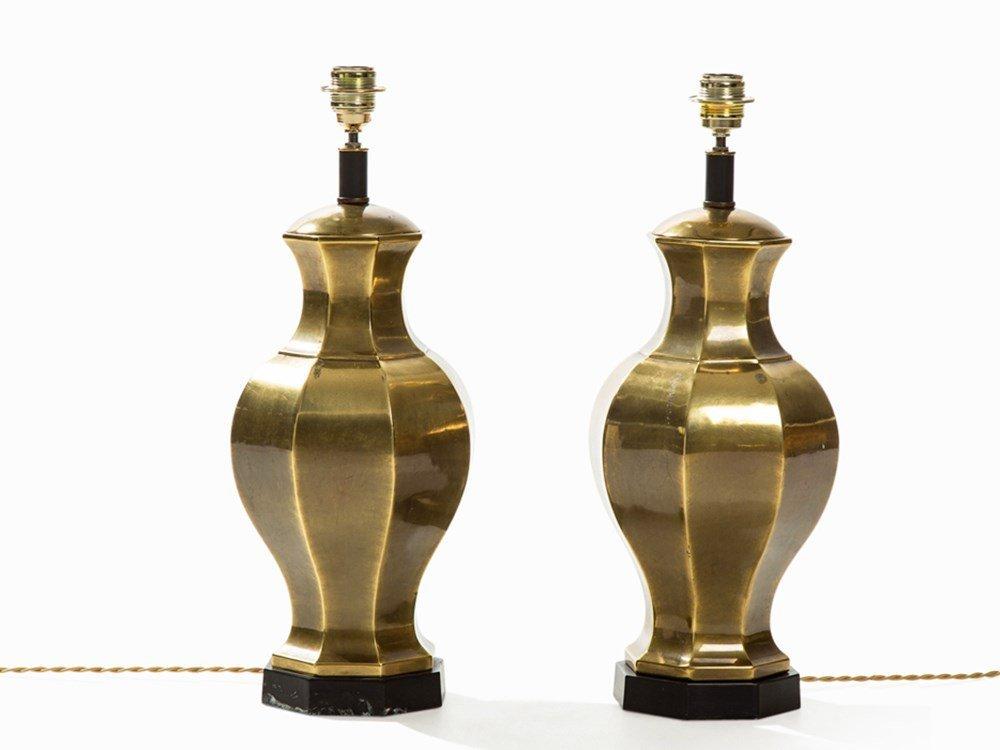 Laurel Lamp Company, Pair of Lamps, Brass, Canada,