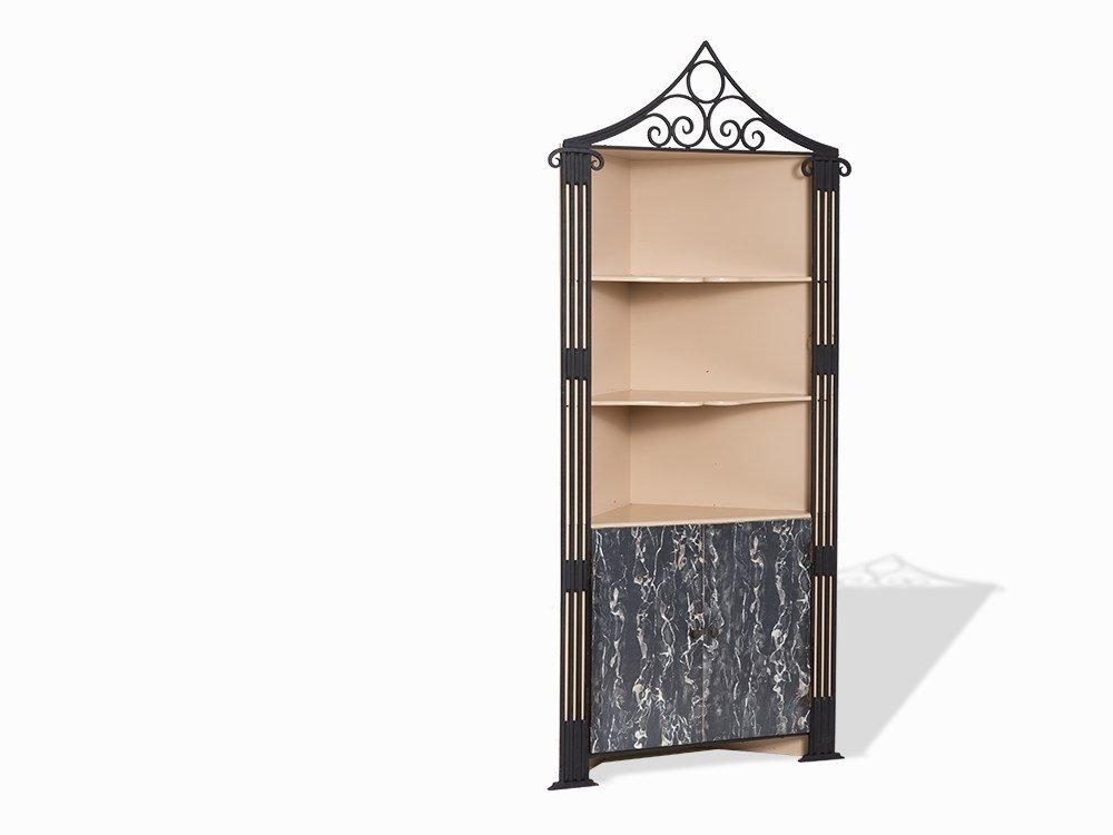 A Corner Cabinet with Ornamental Pediment Crest, USA,