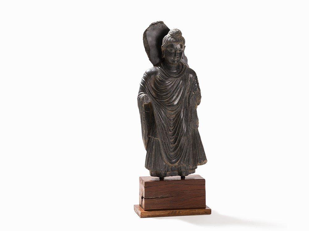 Schist Figure of a Standing Buddha, Gandhara, 2nd-4th