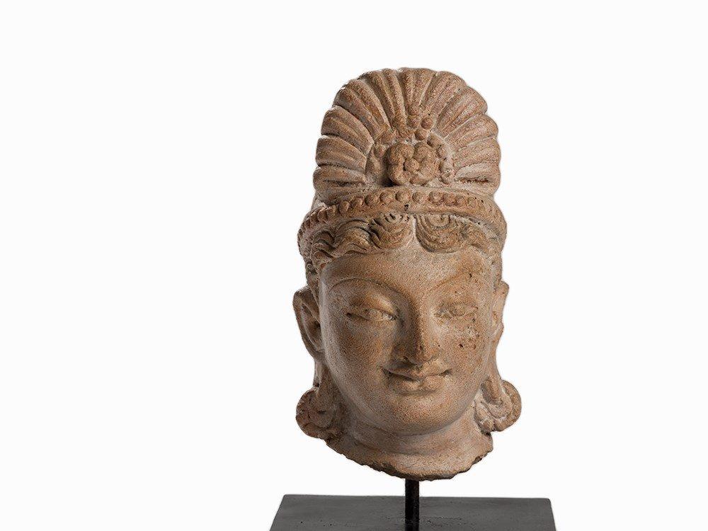 Terracotta Head of a Bodhisattva, Gandhara, 3rd-5th C.