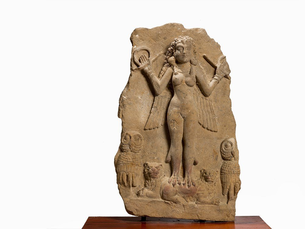 StoneRelief Nude Female Deity, Central Asia, 1st Mill.