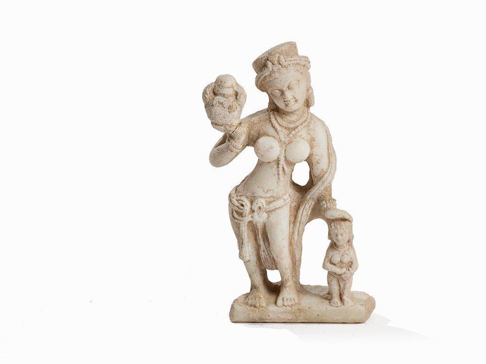 Marble Figure of a Standing Hariti, Gandhara, 3rd-6th