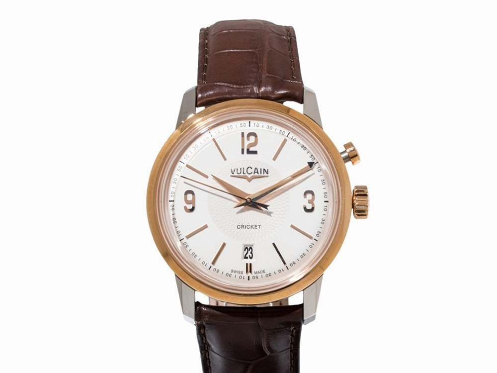 Vulcain 50s Presidents' Watch Gold & Steel,
