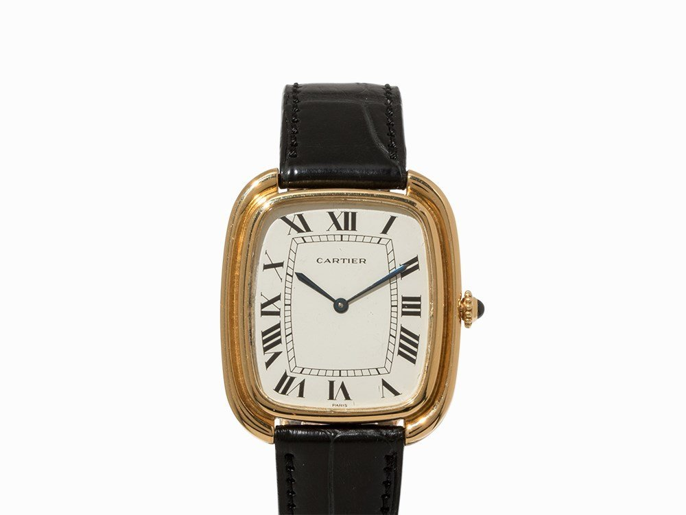 Cartier Wristwatch, 18K Gold, Switzerland, 1990s