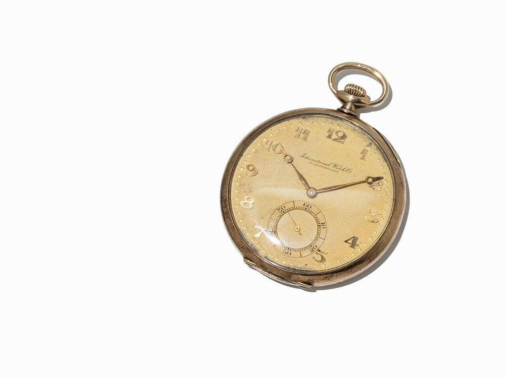 IWC Lepine Pocketwatch, 14K Yellow Gold, Switzerland,