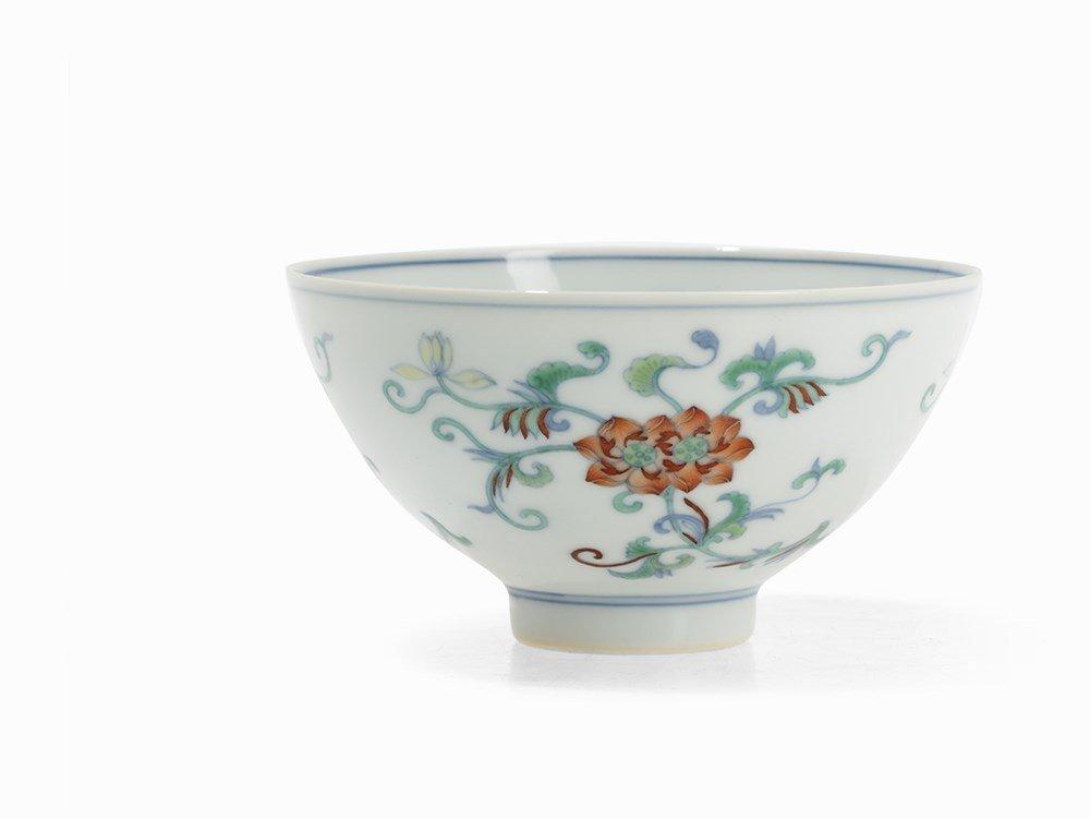 A Fine Doucai Bowl with Floral Tendrils, Yongzheng Era