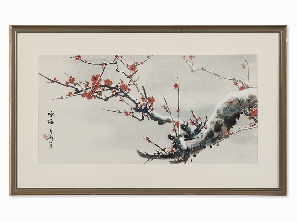 Wang Xuetao, Ode to the Plum Blossom, Painting, 20th C.