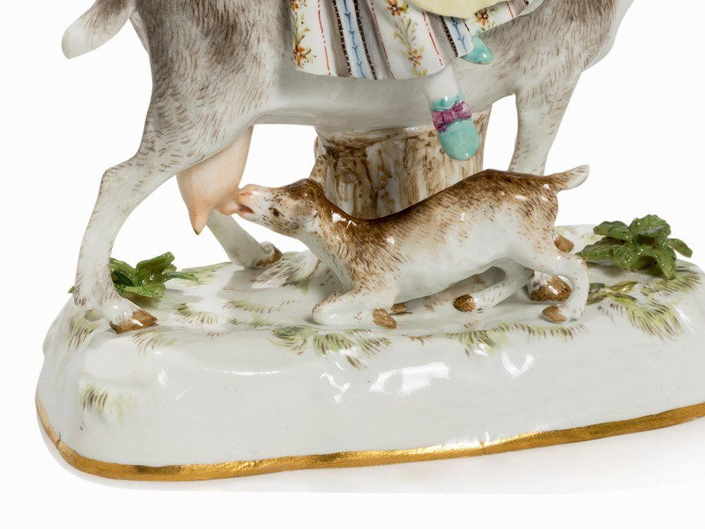 Meissen, Porcelain Group with Tailors and Goats, 2nd H - 6